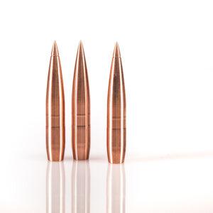 Warner Flat Line .338 285gr Copper Solid Bullet for ELR
